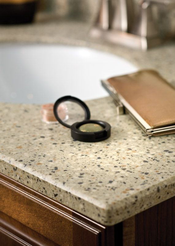 Countertop Bevel Types : Cashmere Solid Surface Vanity Top with Bevel Edge