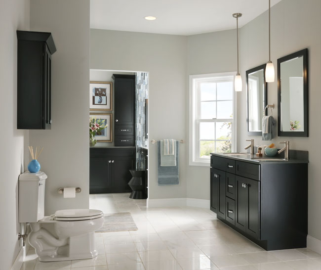 Bathroom ideas bathroom design bathroom vanities - Type of paint for bathroom cabinets ...