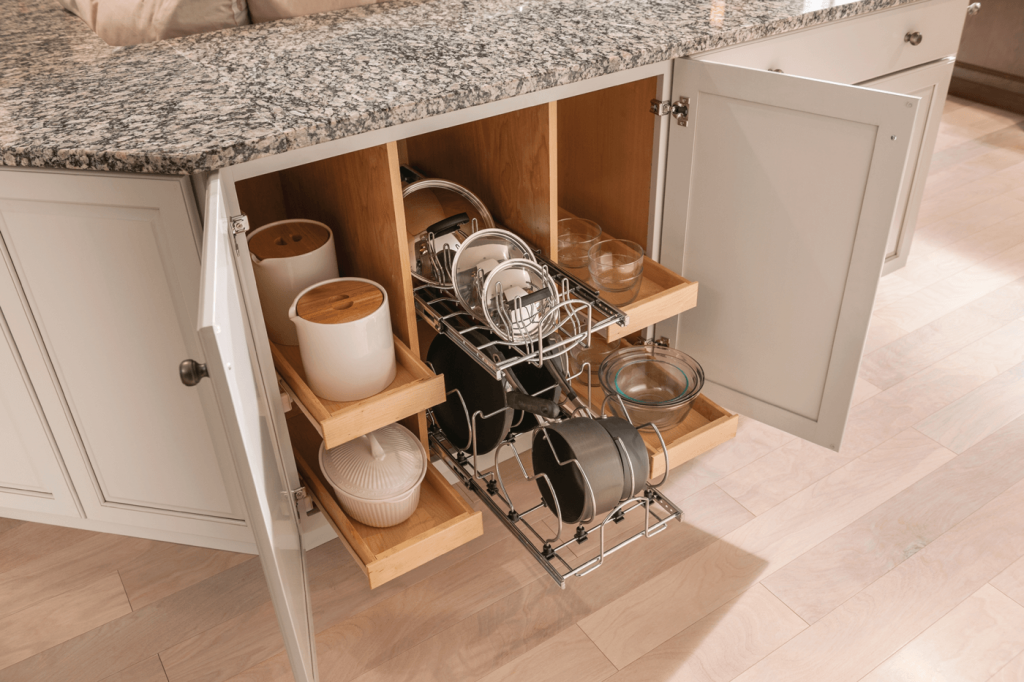 KraftMaid Tiered Pan and Lid Storage Pull-Out