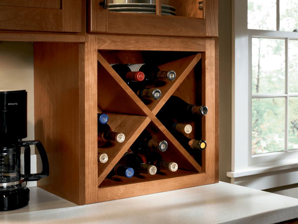 KraftMaid Base Wine Rack