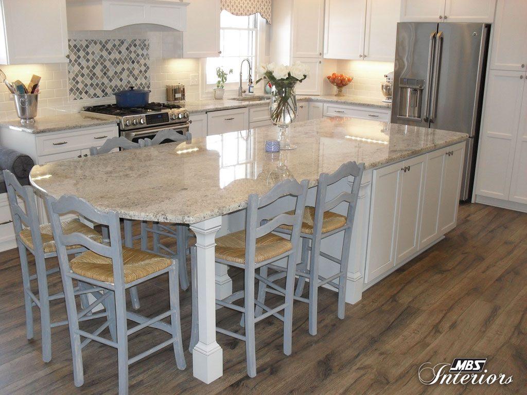 White & Blue Dream Kitchen