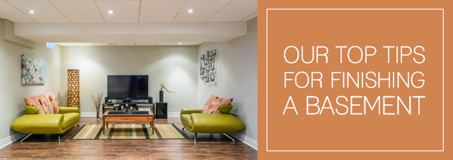 Our Top Tips for Finishing a Basement
