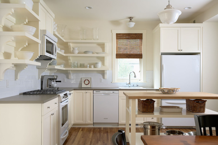 Cream Colored Kitchen Cabinets With White Appliances How to Coordinate White and Cream in the Kitchen   MBS Interiors