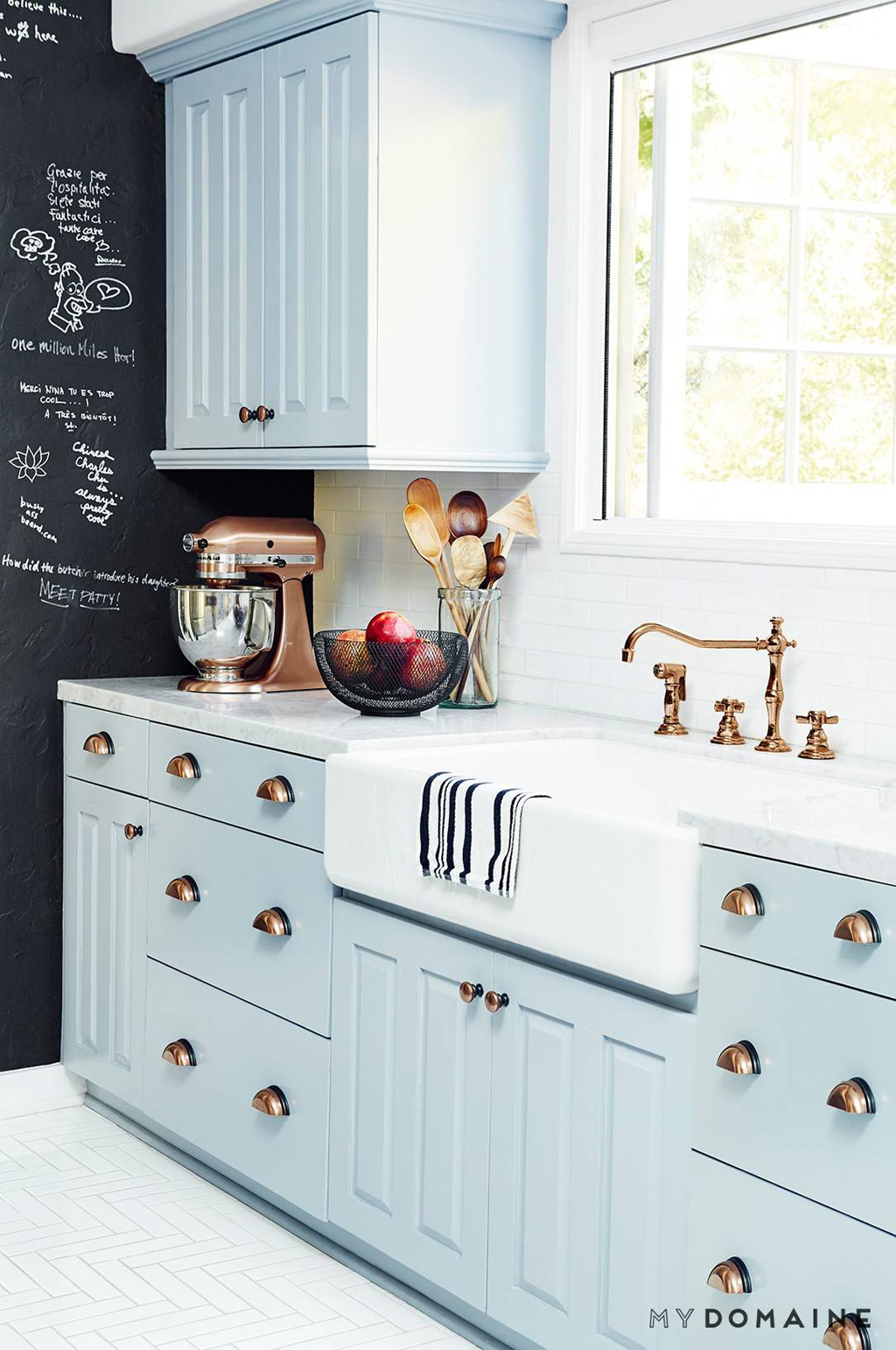 Over White Kitchens? Check Out These Colorful Cabinets - MBS Interiors