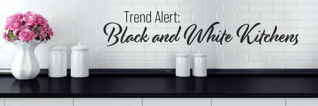 Trend Alert: Black and White Kitchens